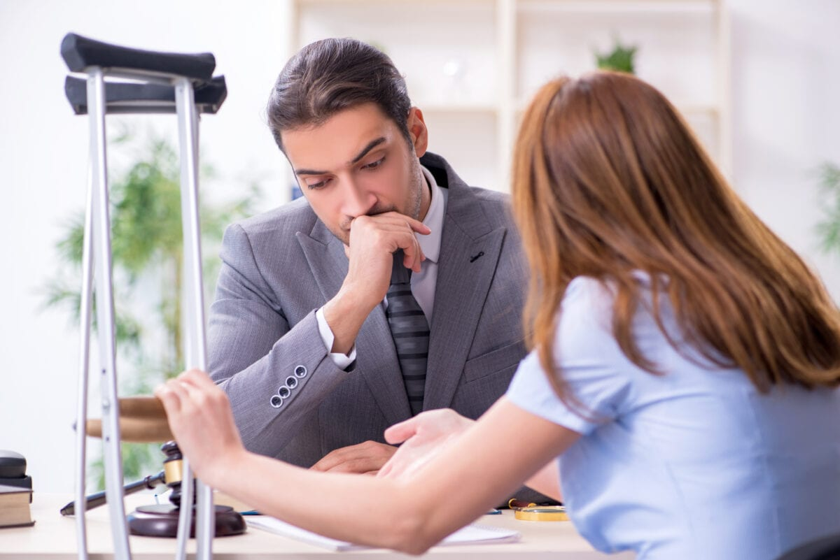 workers compensation attorney and client work injury